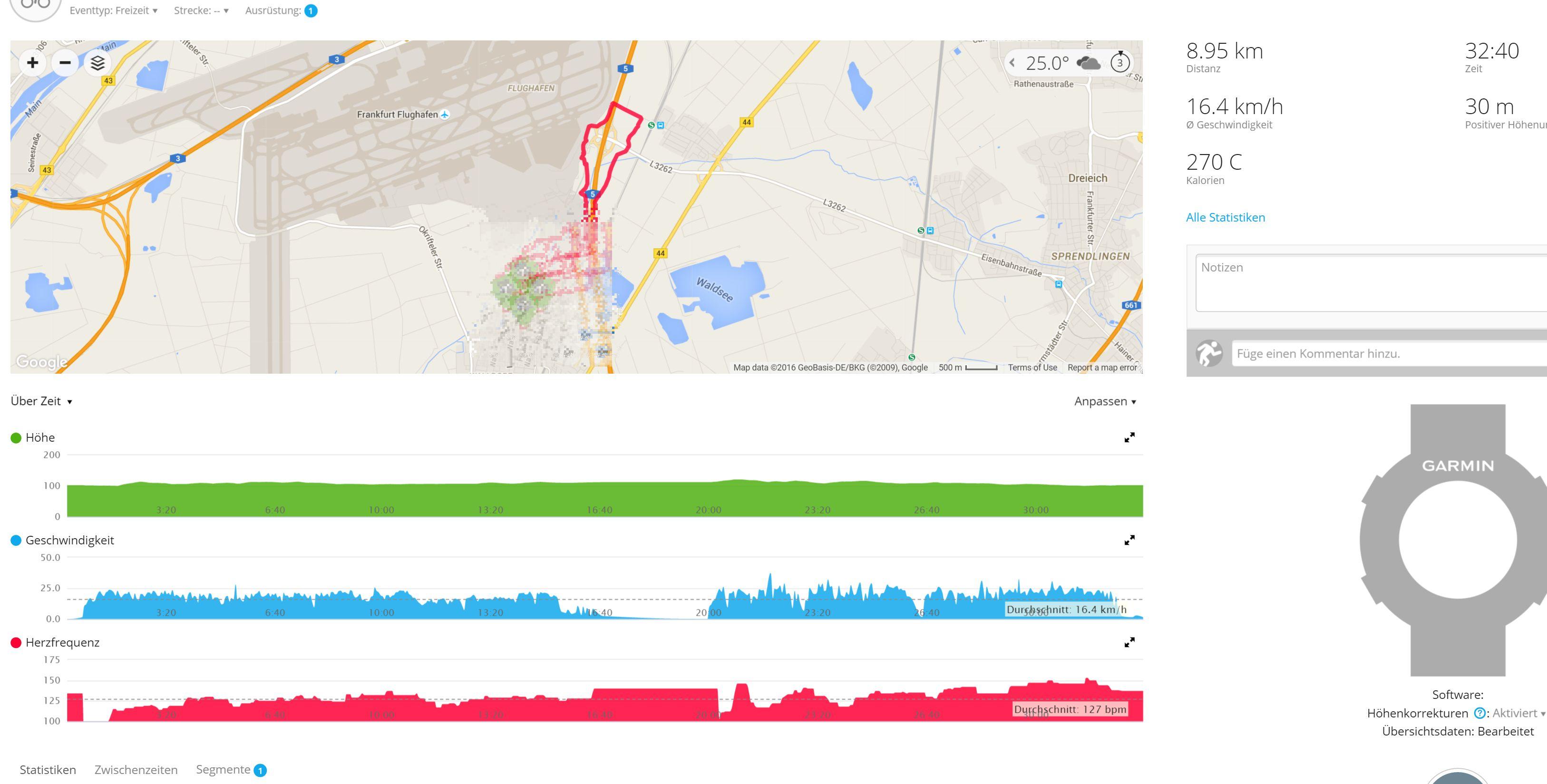 GPS Tracks mit Vivosmart HR erstellen